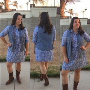 [Faded Glory] Denim Button Up Jean Vest XL (16-18)
